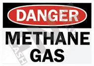 Danger – Methane gas