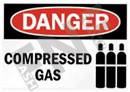 Danger – Compressed gas