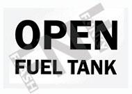 Open fuel tank