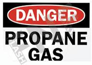 Danger – Propane gas