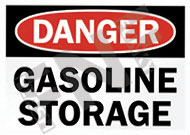 Danger – Gasoline storage