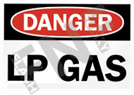 Danger – LP gas
