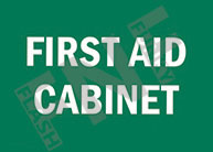 First aid cabinet Sign 1