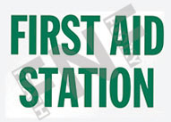 First aid station Sign 1