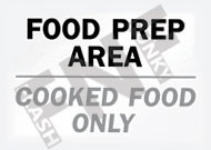 Food prep area – Cooked food only