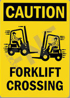 Caution – Forklift crossing