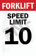 Forklift – Speed limit 10