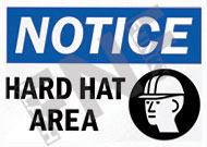 HARD HAT SAFETY SIGNS