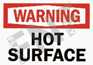 Warning – Hot surface