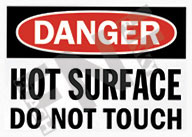 Danger – Hot surface – Do not touch
