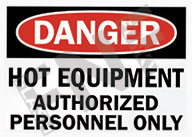 Danger – Hot equipment – Authorized personnel only