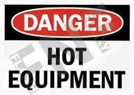 Danger – Hot equipment
