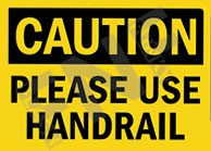HAND RAILS SAFETY SIGNS