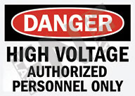 Danger – High voltage – Authorized personnel only