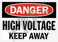 Danger – High voltage – Keep away