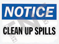 Notice – Clean up spills