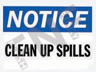 Notice – Clean up spills
