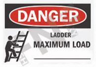 Danger – Ladder maximum load __