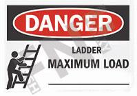 Danger – Ladder maximum load __