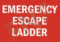 Emergency escape ladder