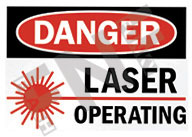Danger – Laser operating