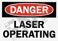 Danger – Laser operating