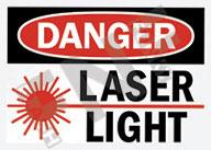 Danger – Laser light