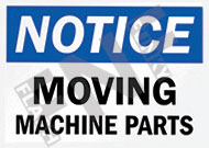 Notice – Moving machine parts