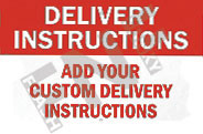 Delivery instructions – Add your custom delivery instructions