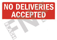 No delivery accepted