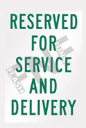 Reserved for service and delivery