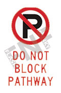 Do not block pathway