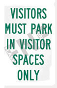 Visitors must park in visitor spaces only
