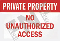 Private property – No unauthorized access