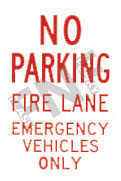 No parking – Fire lane – Emergency vehicles only