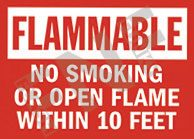 Flammable – No smoking or open flame within 10 feet