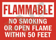 Flammable – No smoking or open flame within 50 feet