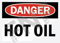 Danger – Hot oil