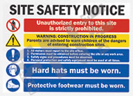 Safety Notice – Unauthorized entry to this site is strictly prohibited – Warning