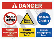 Danger – Custom message goes here – Custom message goes here – Custom message goes here