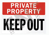 Private property – Keep out