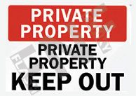 Private property – private property – Keep out