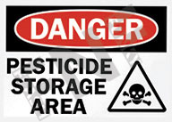 Danger – Pesticide storage area