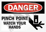 Danger – Pinch point – Watch your hands