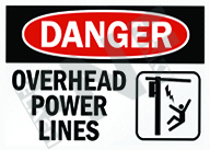 Danger – Overhead power lines