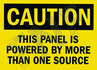 Caution – This panel is powered by more than one source