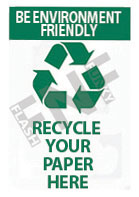 Be environment friendly – Recycle your paper here