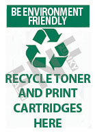 Be environment friendly – Recycle toner and print cartridges here