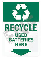 Recycle – Used batteries here