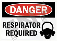 Danger – Respirator required